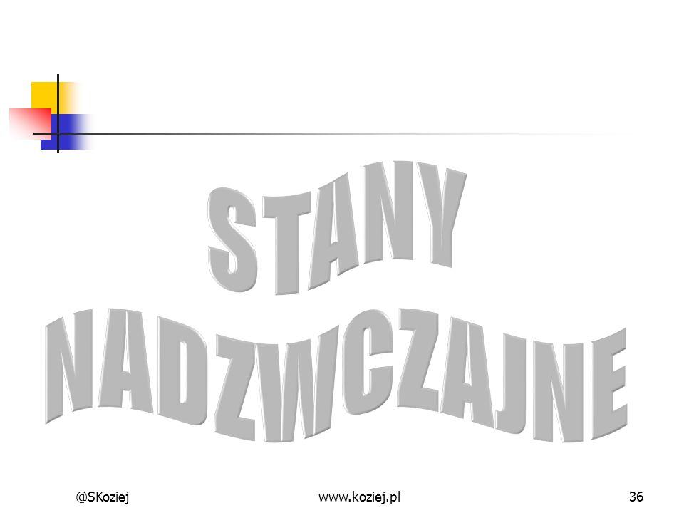 STANY NADZWCZAJNE @SKoziej www.koziej.pl