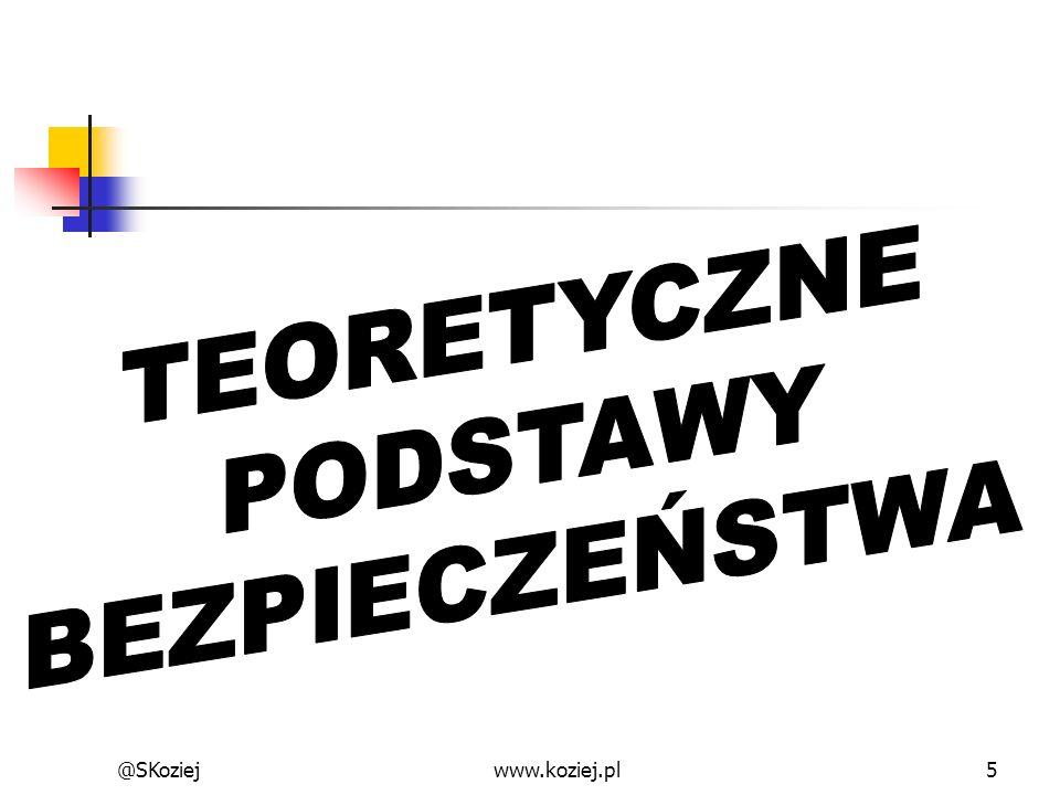 TEORETYCZNE PODSTAWY BEZPIECZEŃSTWA @SKoziej www.koziej.pl