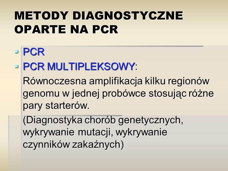 METODY DIAGNOSTYCZNE OPARTE NA PCR
