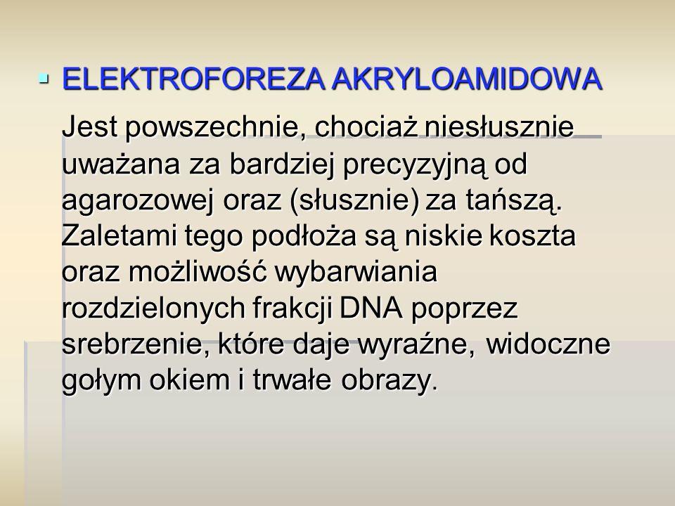ELEKTROFOREZA AKRYLOAMIDOWA