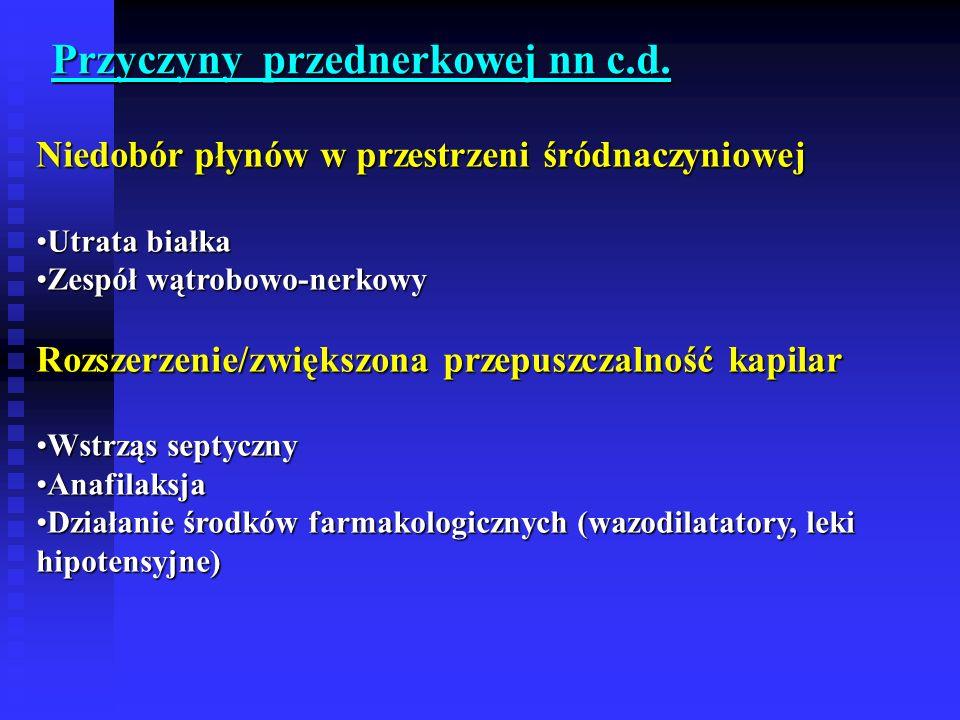 Przyczyny przednerkowej nn c.d.