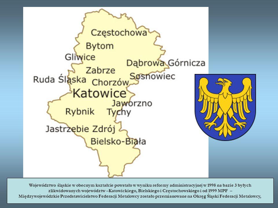 Województwo śląskie w obecnym kształcie powstało w wyniku reformy administracyjnej w 1998 na bazie 3 byłych