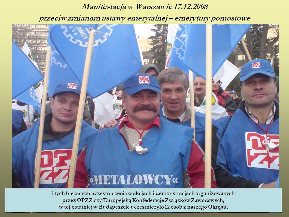 Manifestacja w Warszawie 17.12.2008