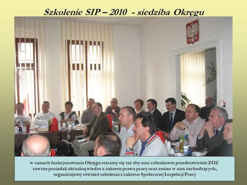 Szkolenie SIP – 2010 - siedziba Okręgu