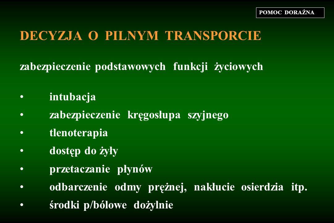DECYZJA O PILNYM TRANSPORCIE