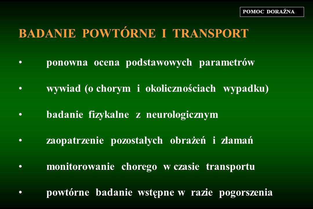 BADANIE POWTÓRNE I TRANSPORT