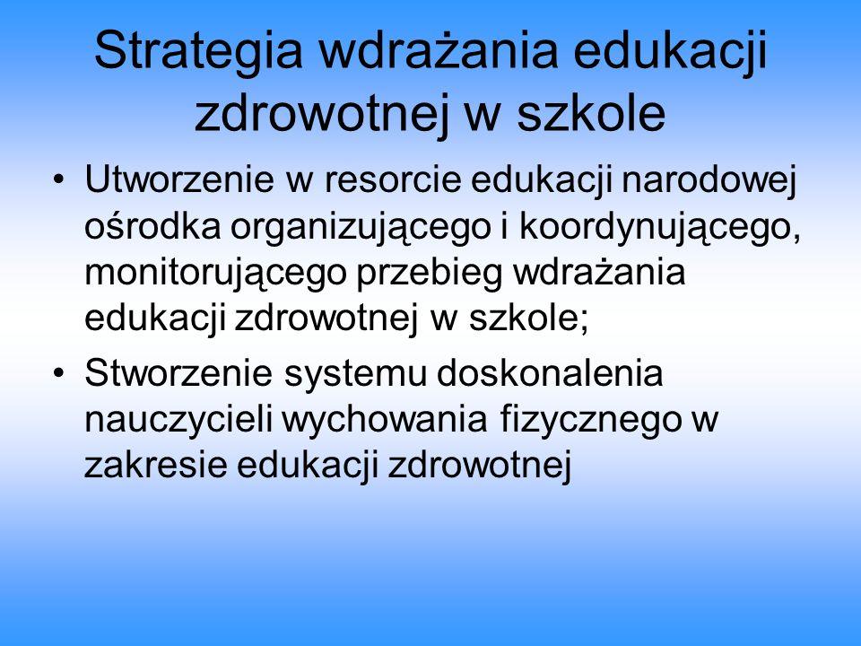 Strategia wdrażania edukacji zdrowotnej w szkole