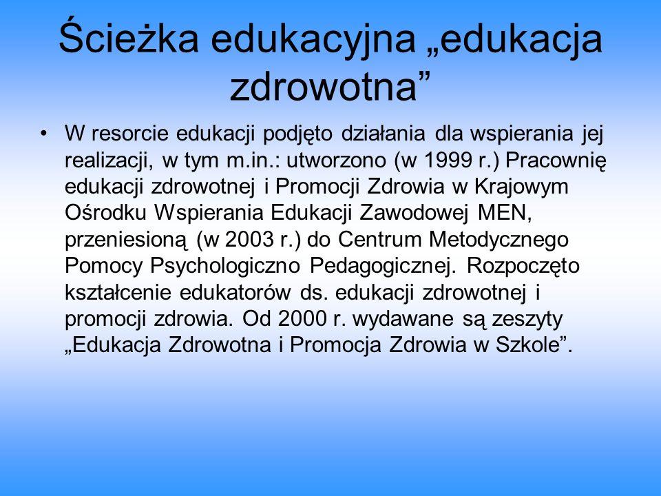"""Ścieżka edukacyjna """"edukacja zdrowotna"""