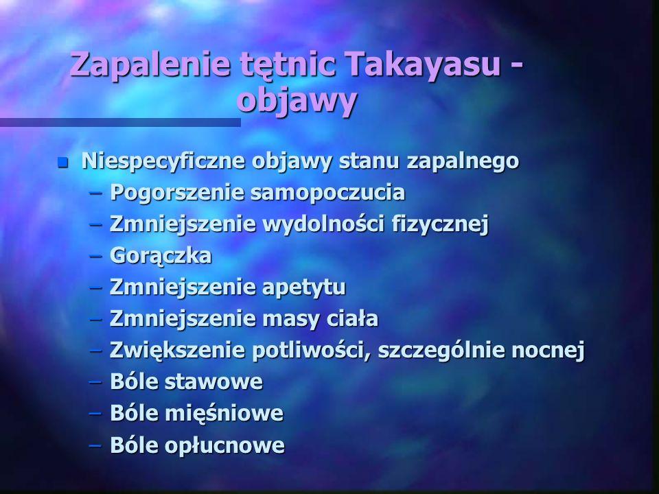 Zapalenie tętnic Takayasu - objawy