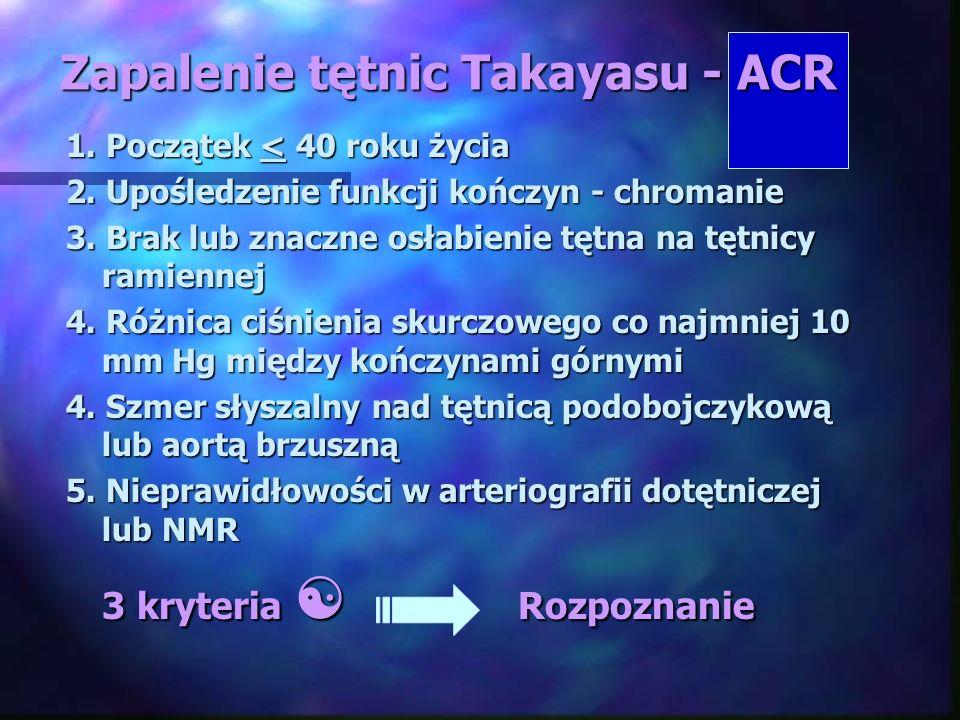 Zapalenie tętnic Takayasu - ACR
