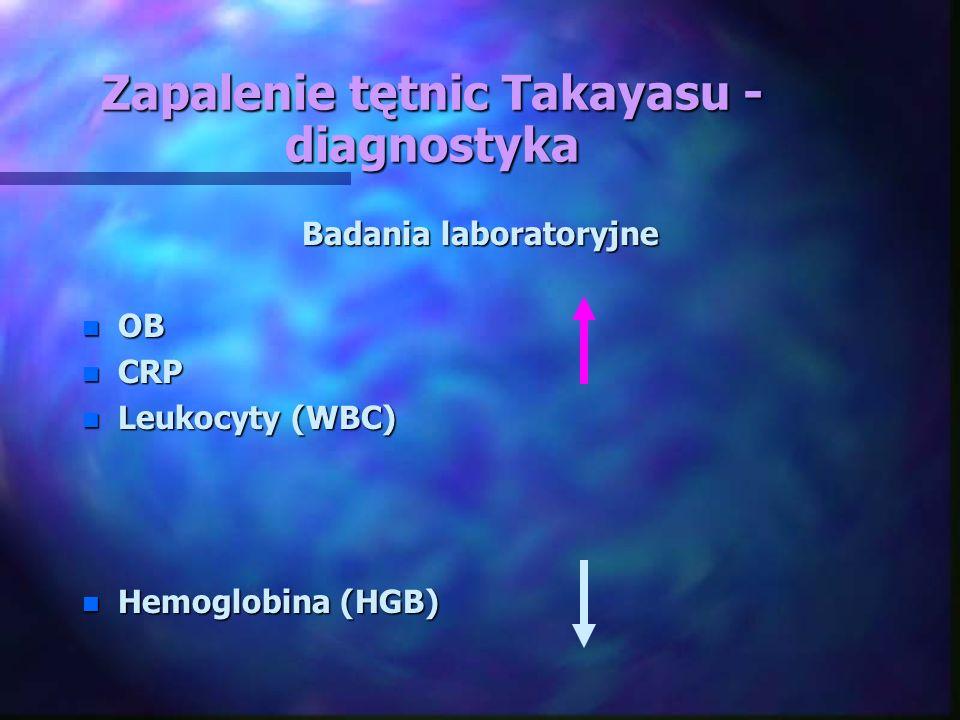 Zapalenie tętnic Takayasu - diagnostyka