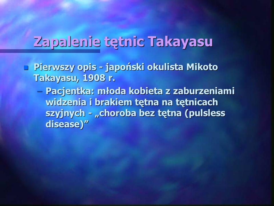 Zapalenie tętnic Takayasu