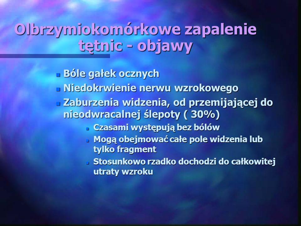 Olbrzymiokomórkowe zapalenie tętnic - objawy