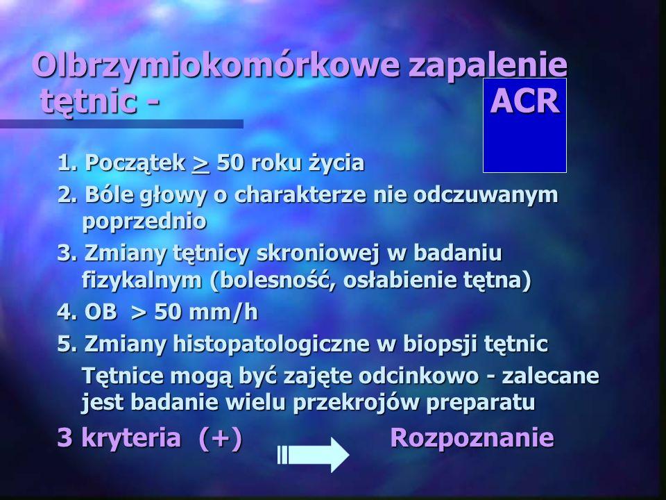 Olbrzymiokomórkowe zapalenie tętnic - ACR