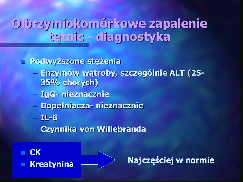 Olbrzymiokomórkowe zapalenie tętnic - diagnostyka