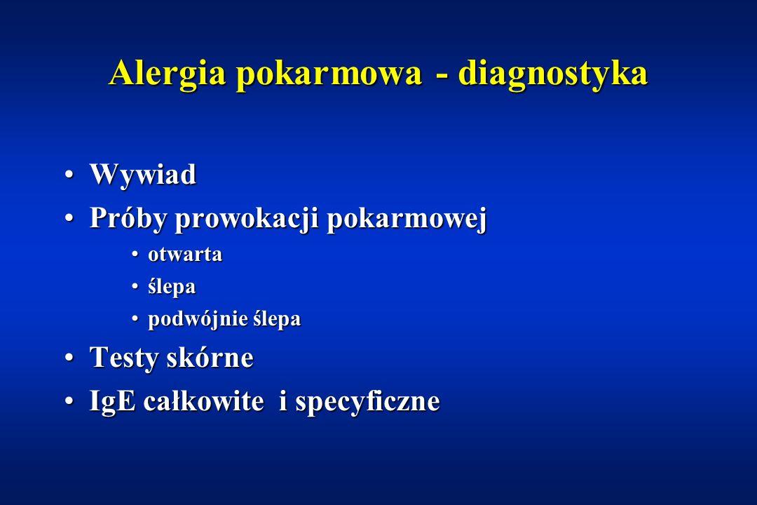 Alergia pokarmowa - diagnostyka