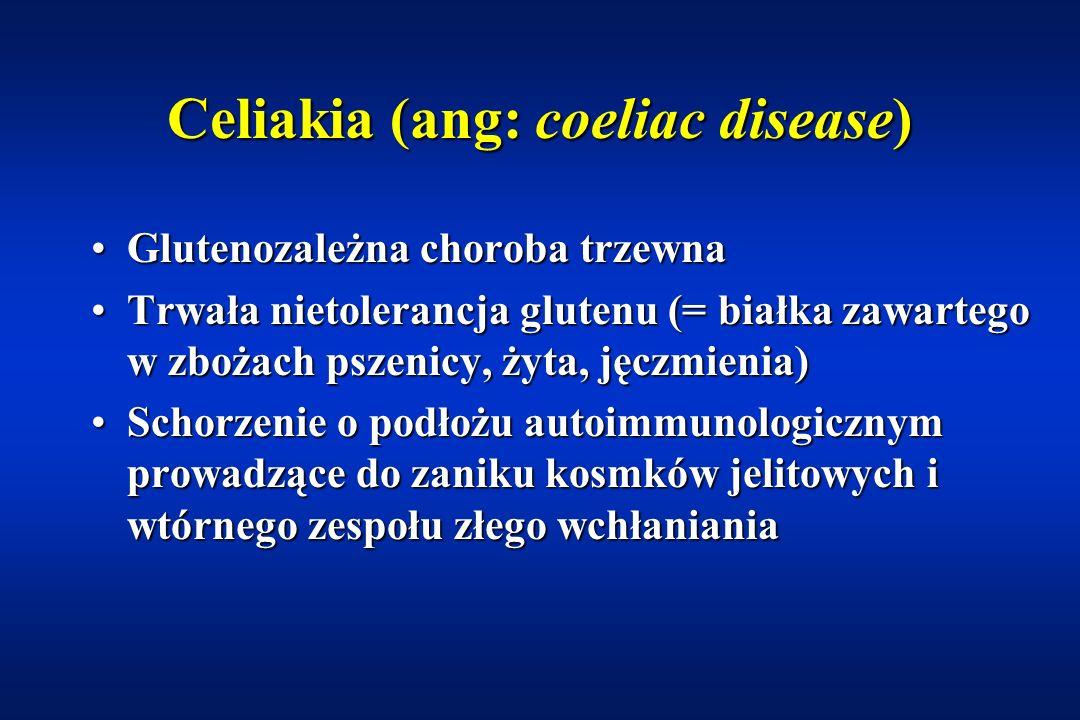 Celiakia (ang: coeliac disease)