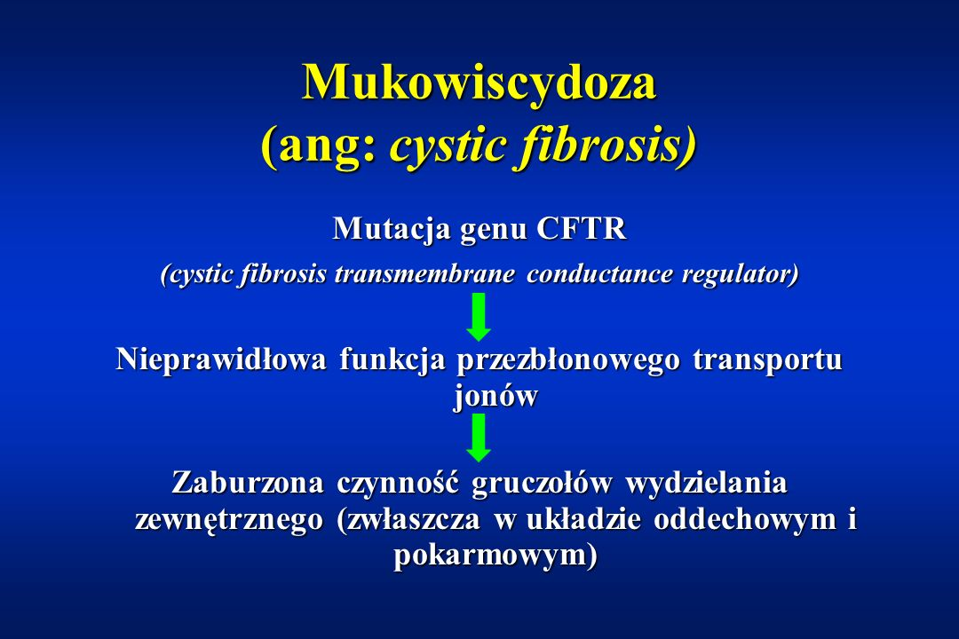 Mukowiscydoza (ang: cystic fibrosis)