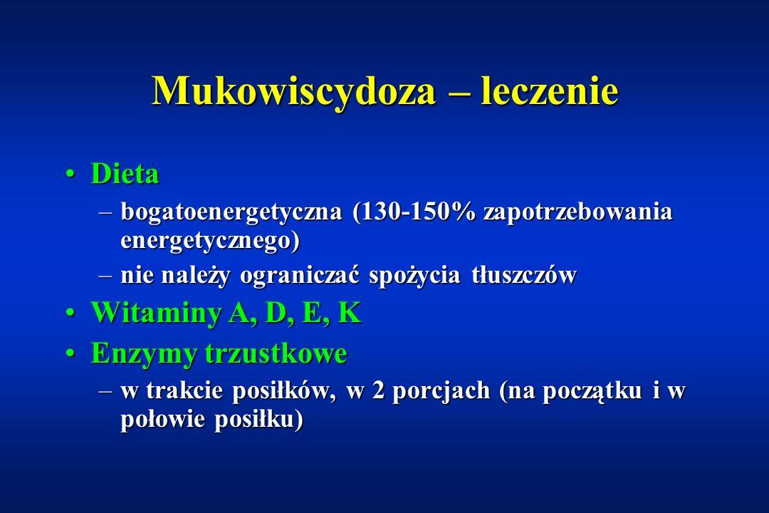 Mukowiscydoza – leczenie
