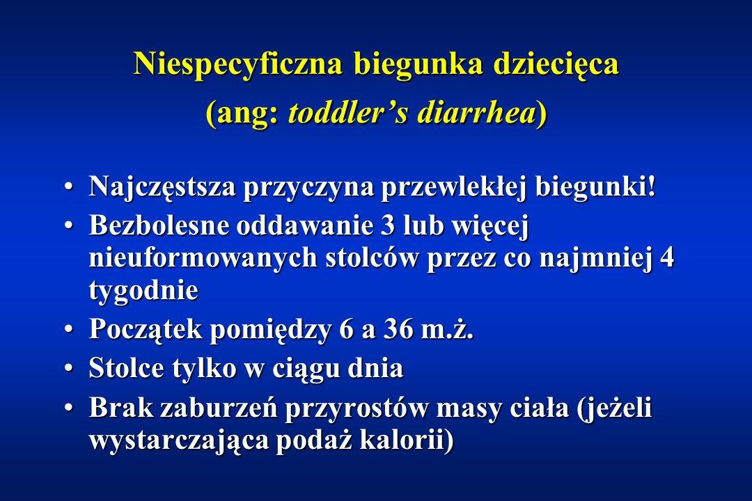 Niespecyficzna biegunka dziecięca (ang: toddler's diarrhea)