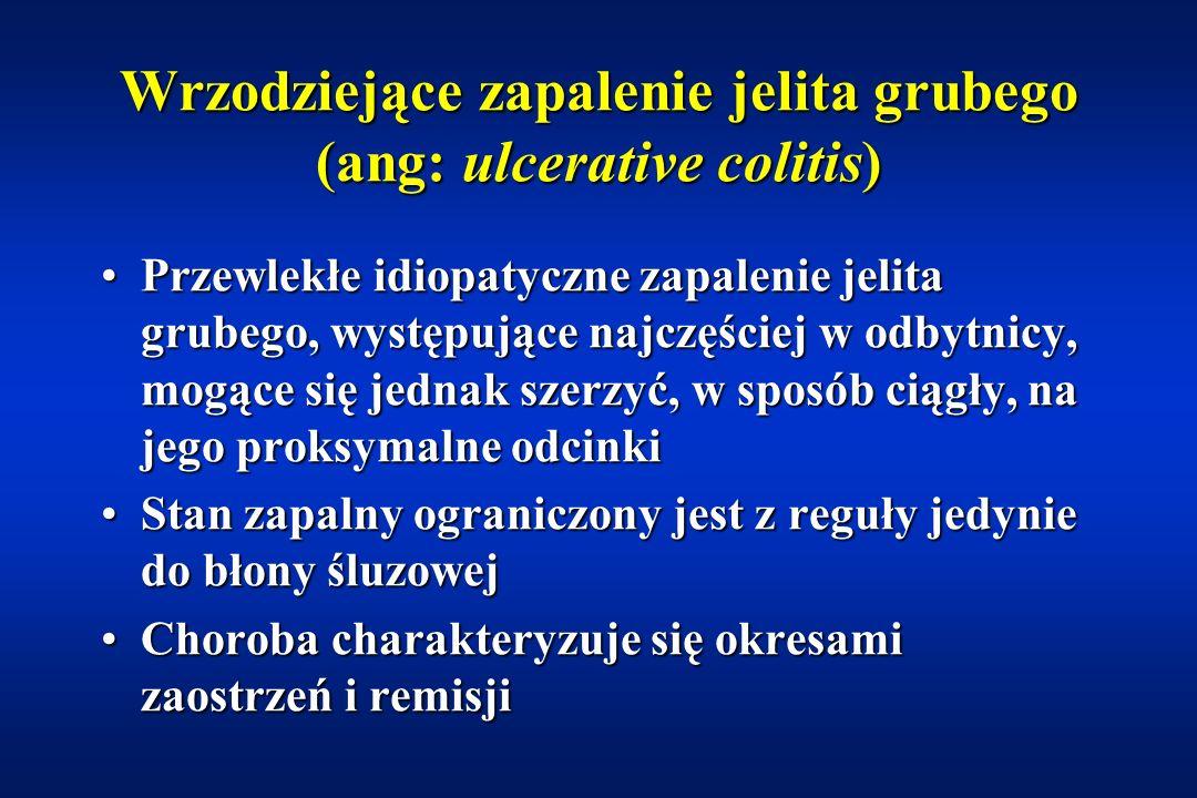 Wrzodziejące zapalenie jelita grubego (ang: ulcerative colitis)