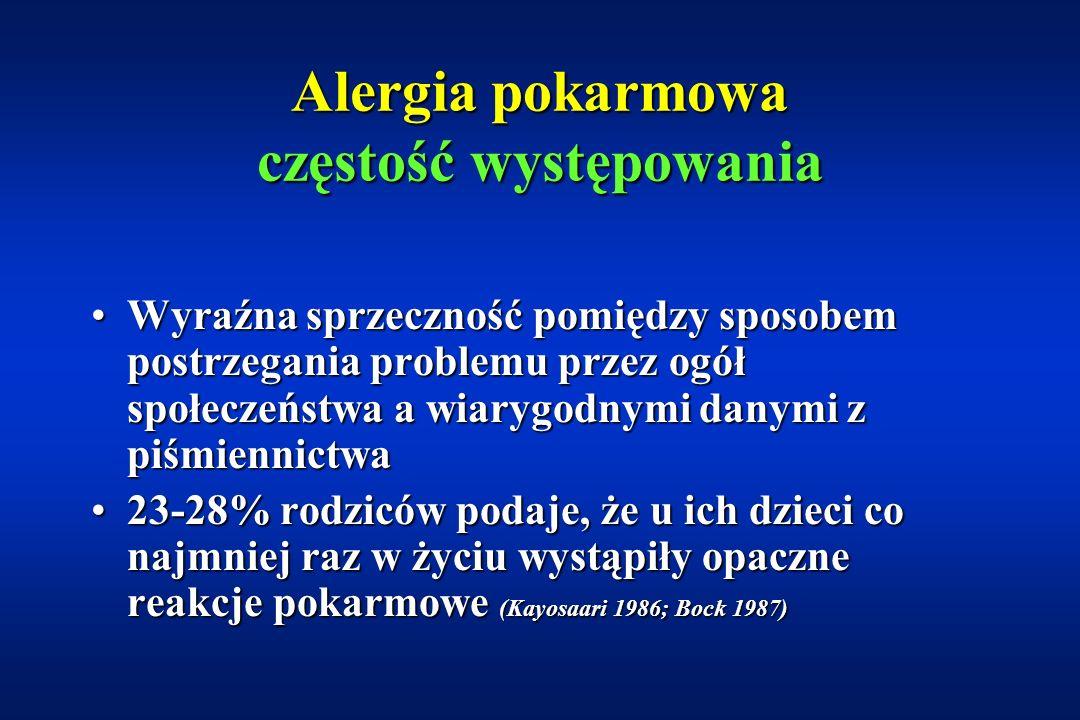 Alergia pokarmowa częstość występowania