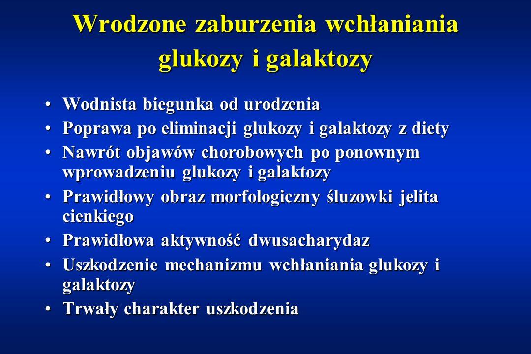 Wrodzone zaburzenia wchłaniania glukozy i galaktozy