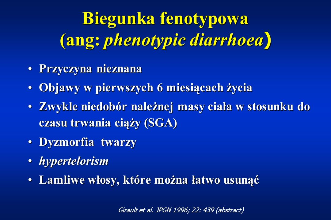 Biegunka fenotypowa (ang: phenotypic diarrhoea)