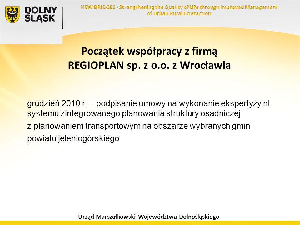 Początek współpracy z firmą REGIOPLAN sp. z o.o. z Wrocławia