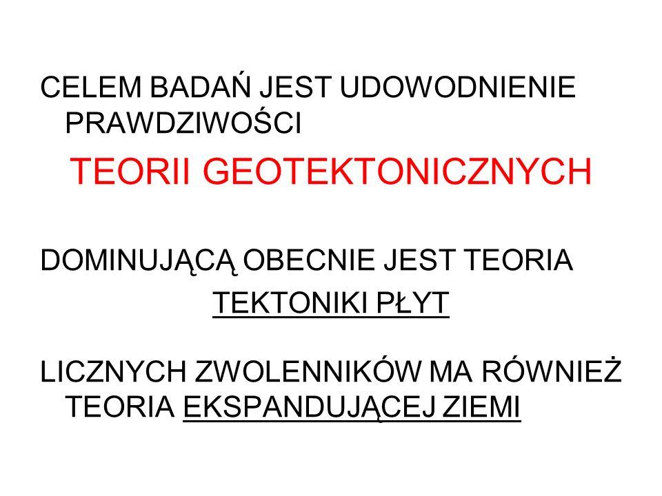 TEORII GEOTEKTONICZNYCH