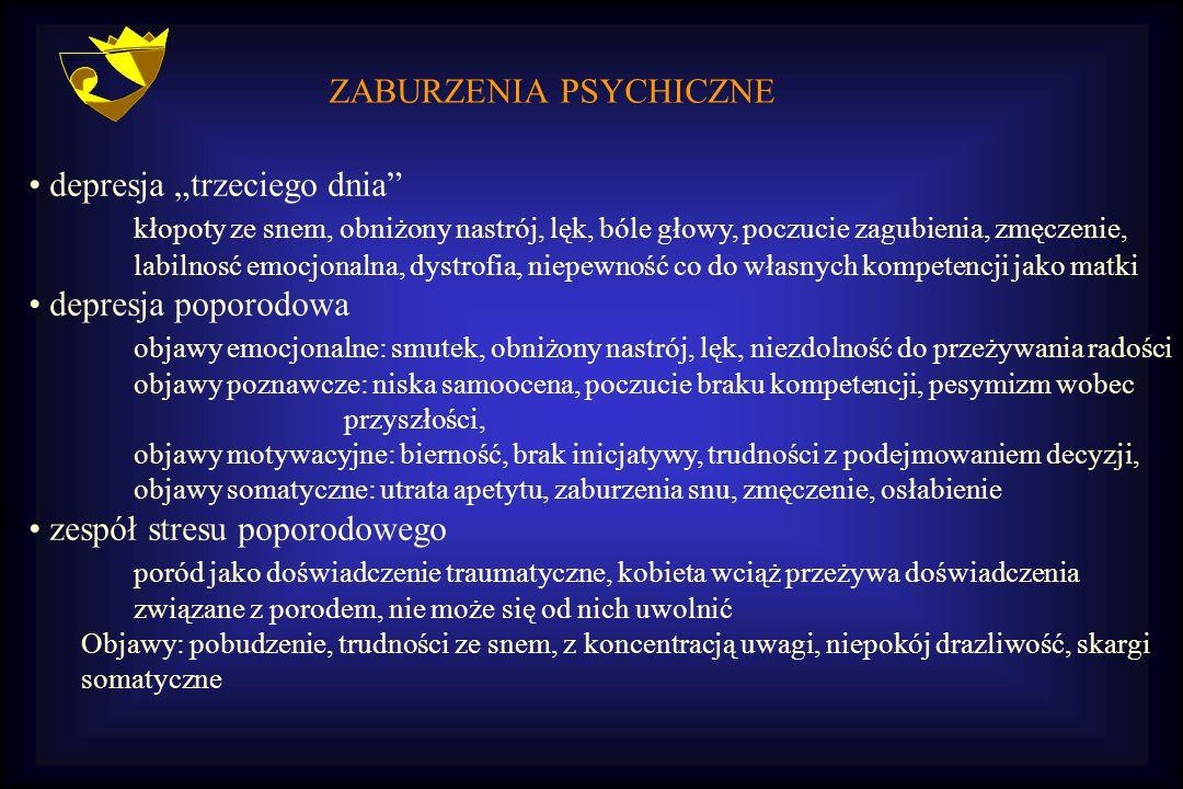 ZABURZENIA PSYCHICZNE