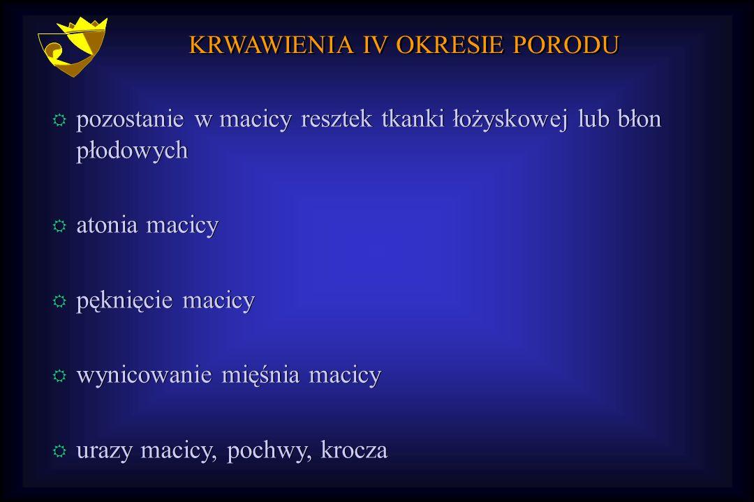 KRWAWIENIA IV OKRESIE PORODU