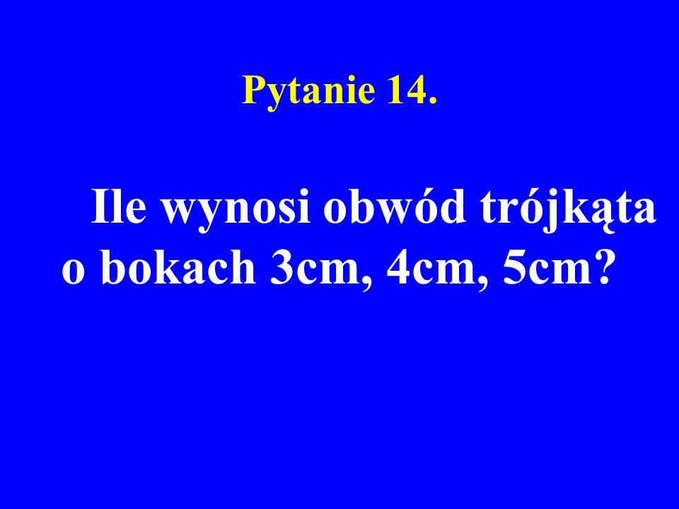 Ile wynosi obwód trójkąta