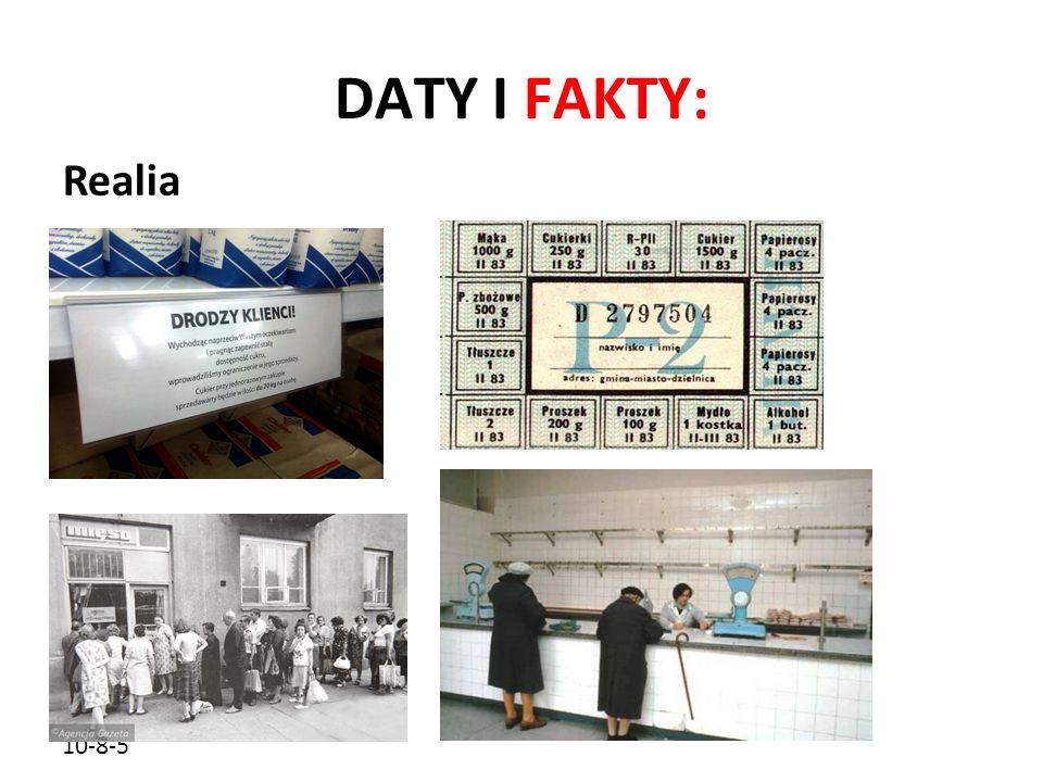 DATY I FAKTY: Realia 10-8-5