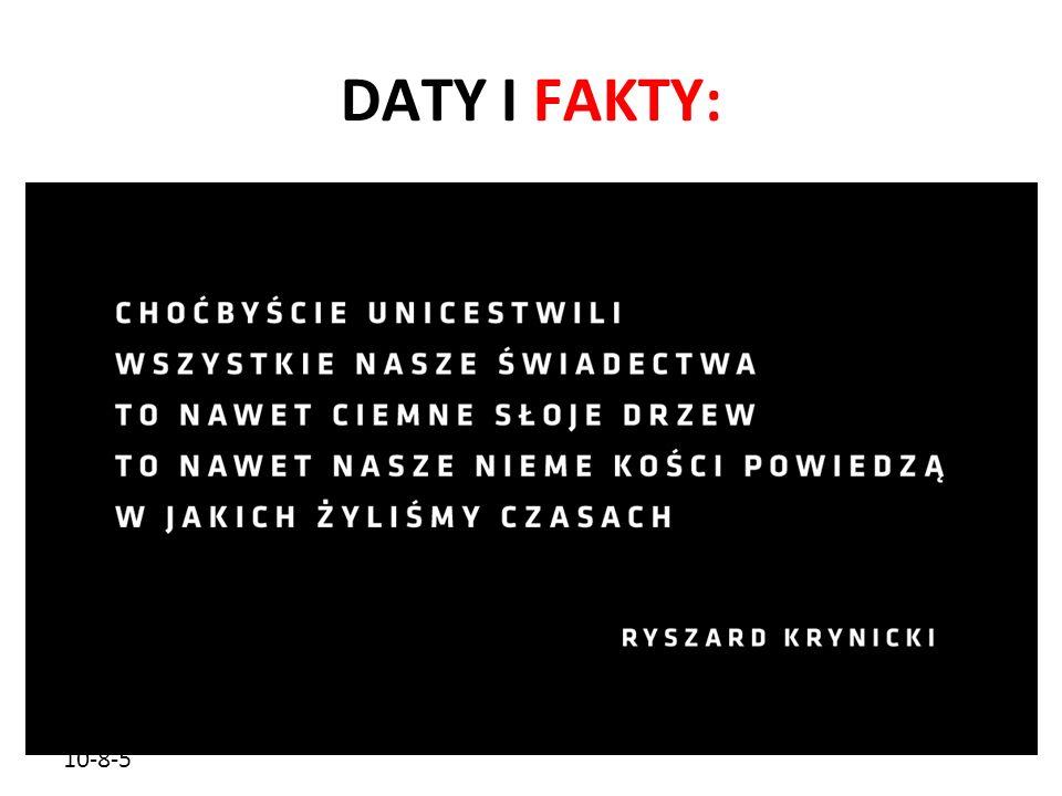 DATY I FAKTY: 10-8-5