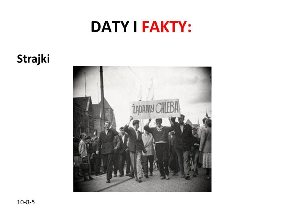 DATY I FAKTY: Strajki 10-8-5