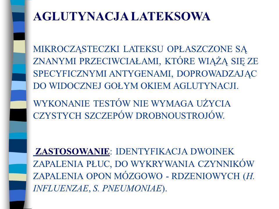 AGLUTYNACJA LATEKSOWA