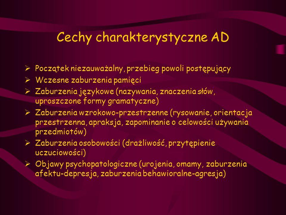 Cechy charakterystyczne AD