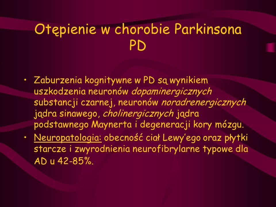 Otępienie w chorobie Parkinsona PD