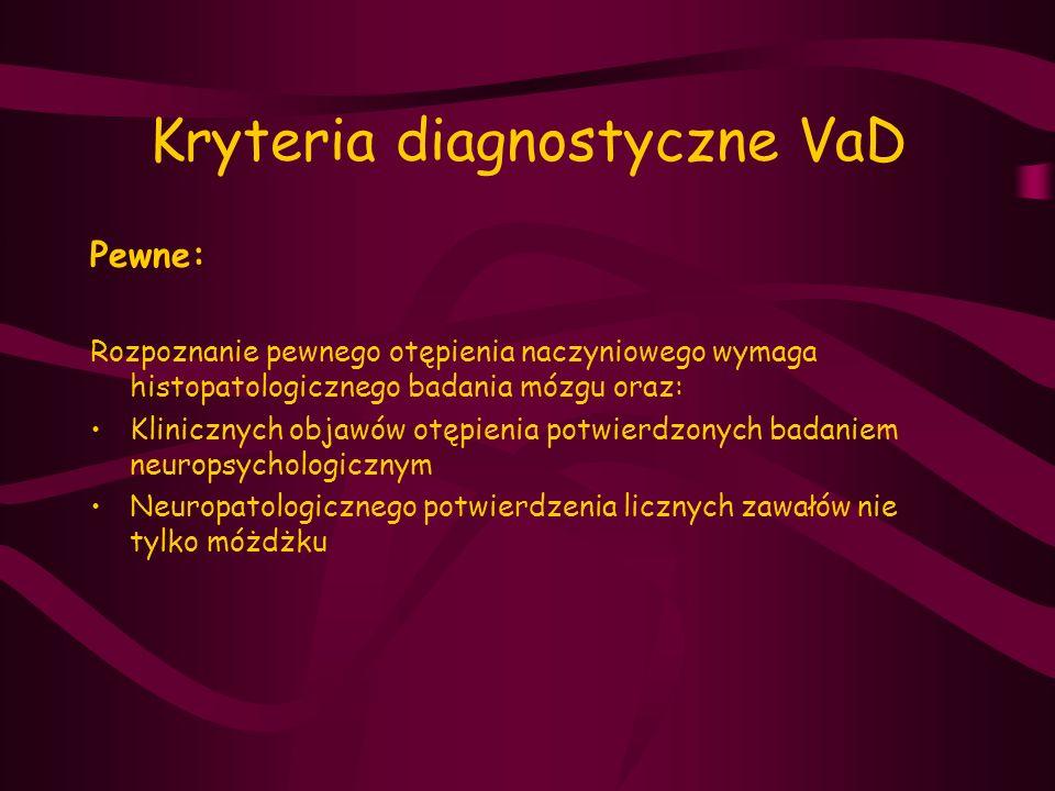 Kryteria diagnostyczne VaD