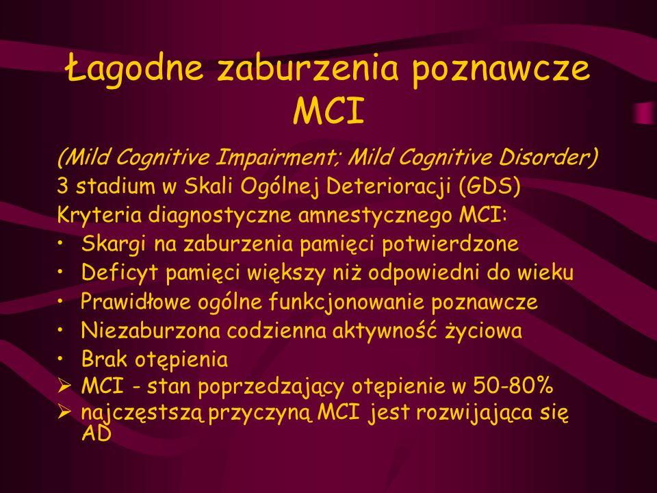 Łagodne zaburzenia poznawcze MCI
