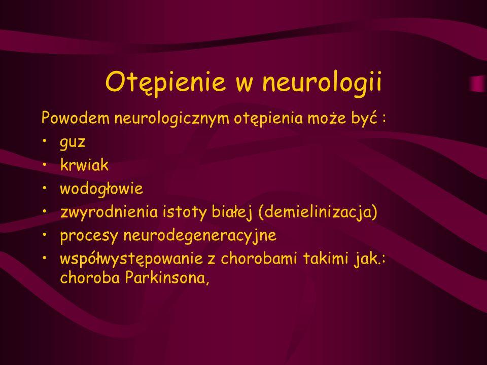 Otępienie w neurologii