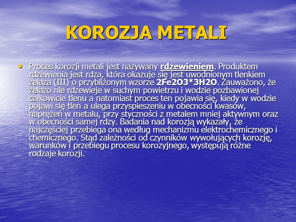 KOROZJA METALI