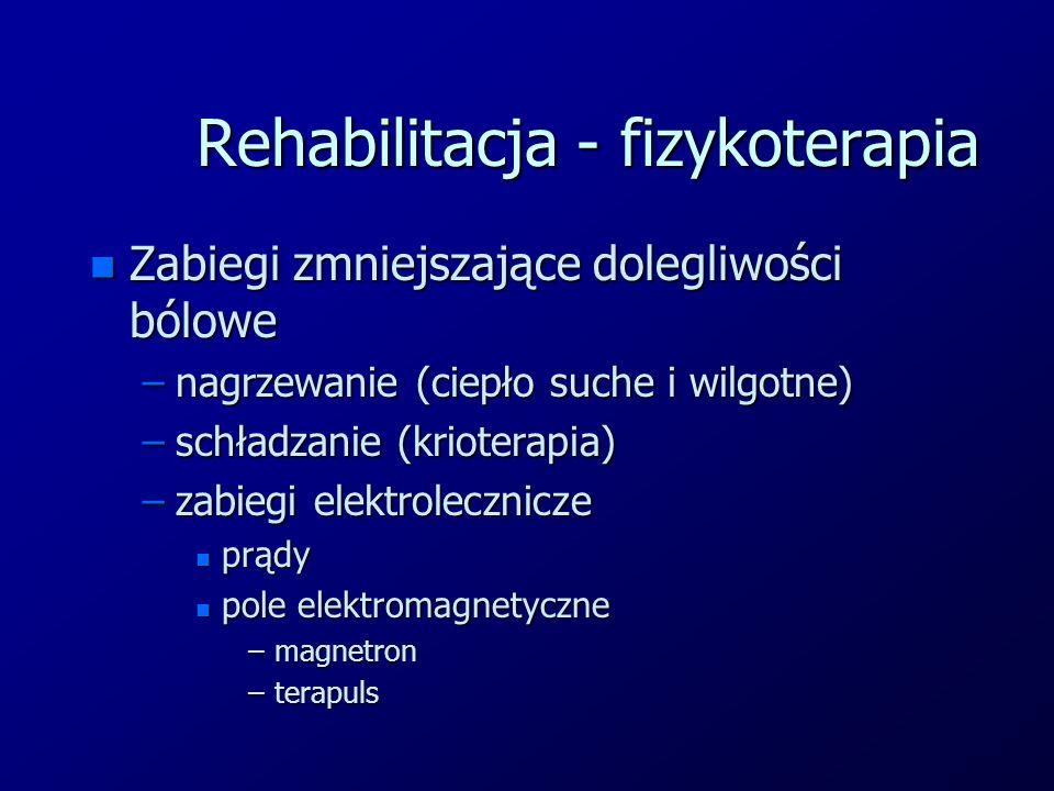 Rehabilitacja - fizykoterapia