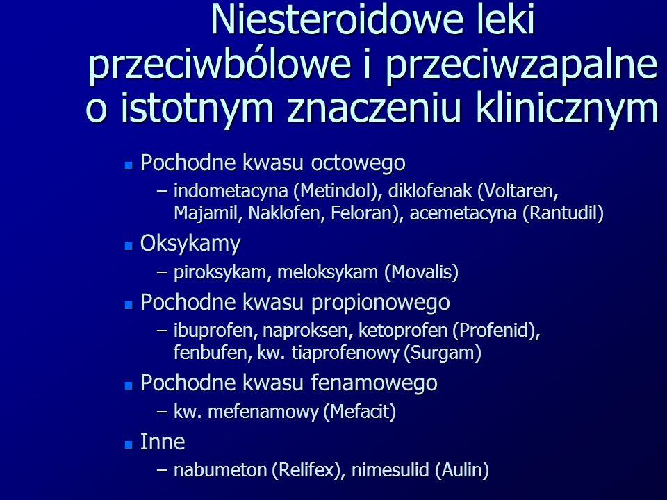 Niesteroidowe leki przeciwbólowe i przeciwzapalne o istotnym znaczeniu klinicznym