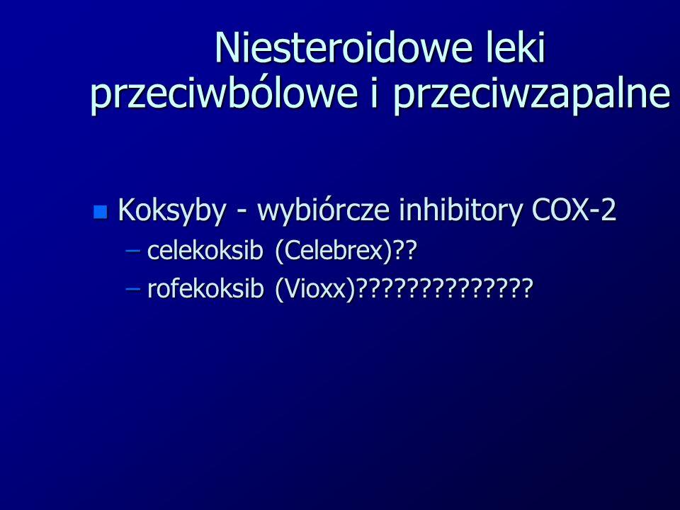 Niesteroidowe leki przeciwbólowe i przeciwzapalne