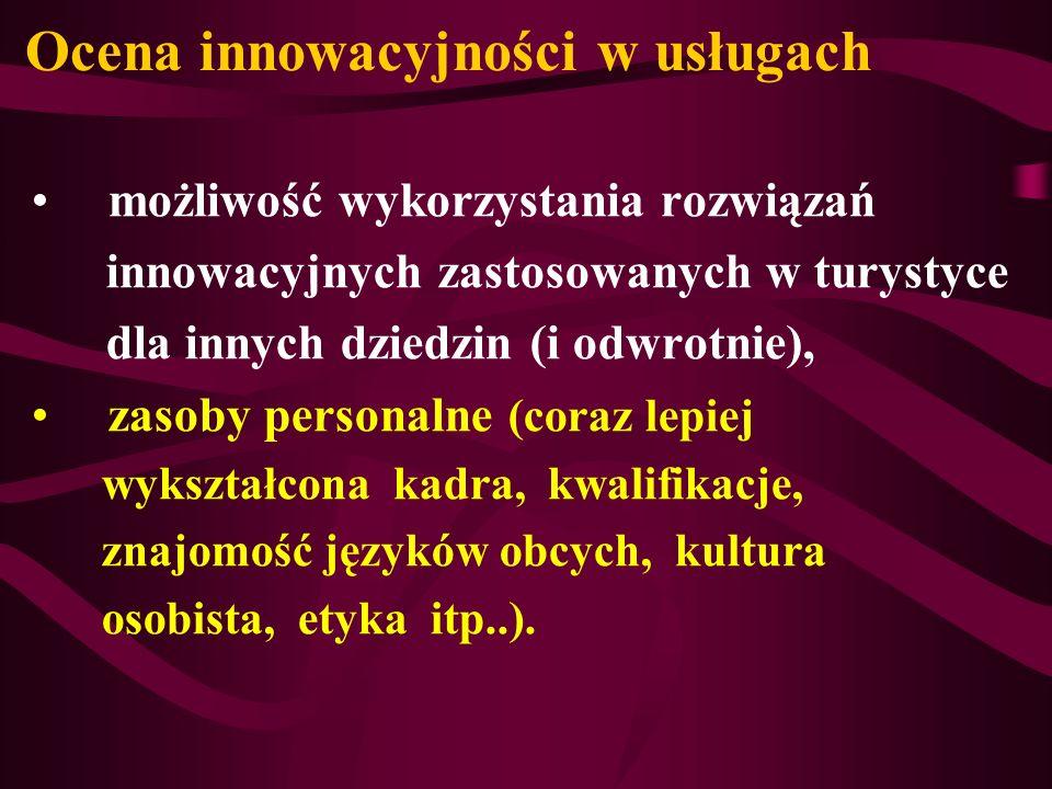 Ocena innowacyjności w usługach