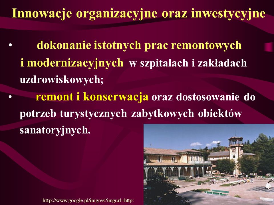 Innowacje organizacyjne oraz inwestycyjne