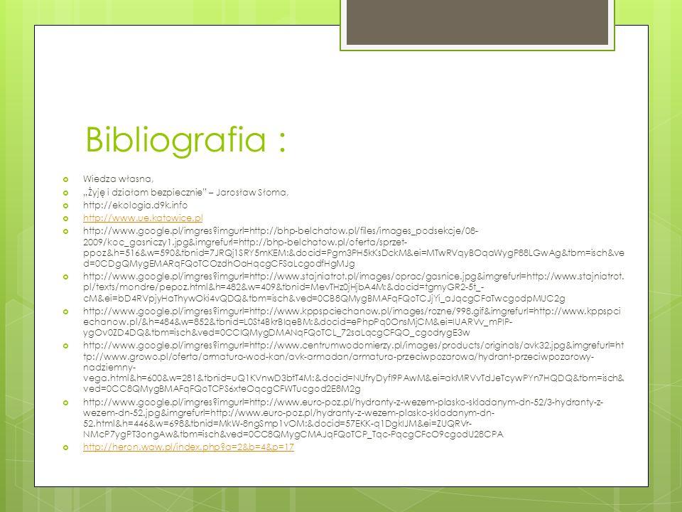 Bibliografia : Wiedza własna,