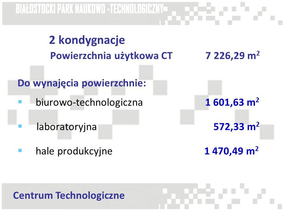 2 kondygnacje Powierzchnia użytkowa CT 7 226,29 m2